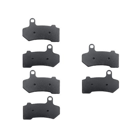KMG Front + Rear Brake Pads Compatible with 2008-2011 Harley FLHX Street Glide - Non-Metallic Organic NAO Brake Pads Set - image 4 of 4