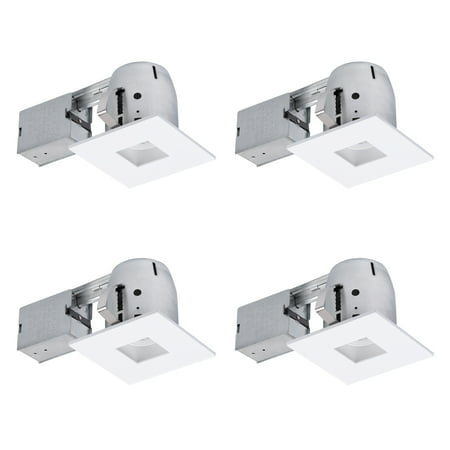 globe electric 4 in white ic rated die cast recessed lighting kit
