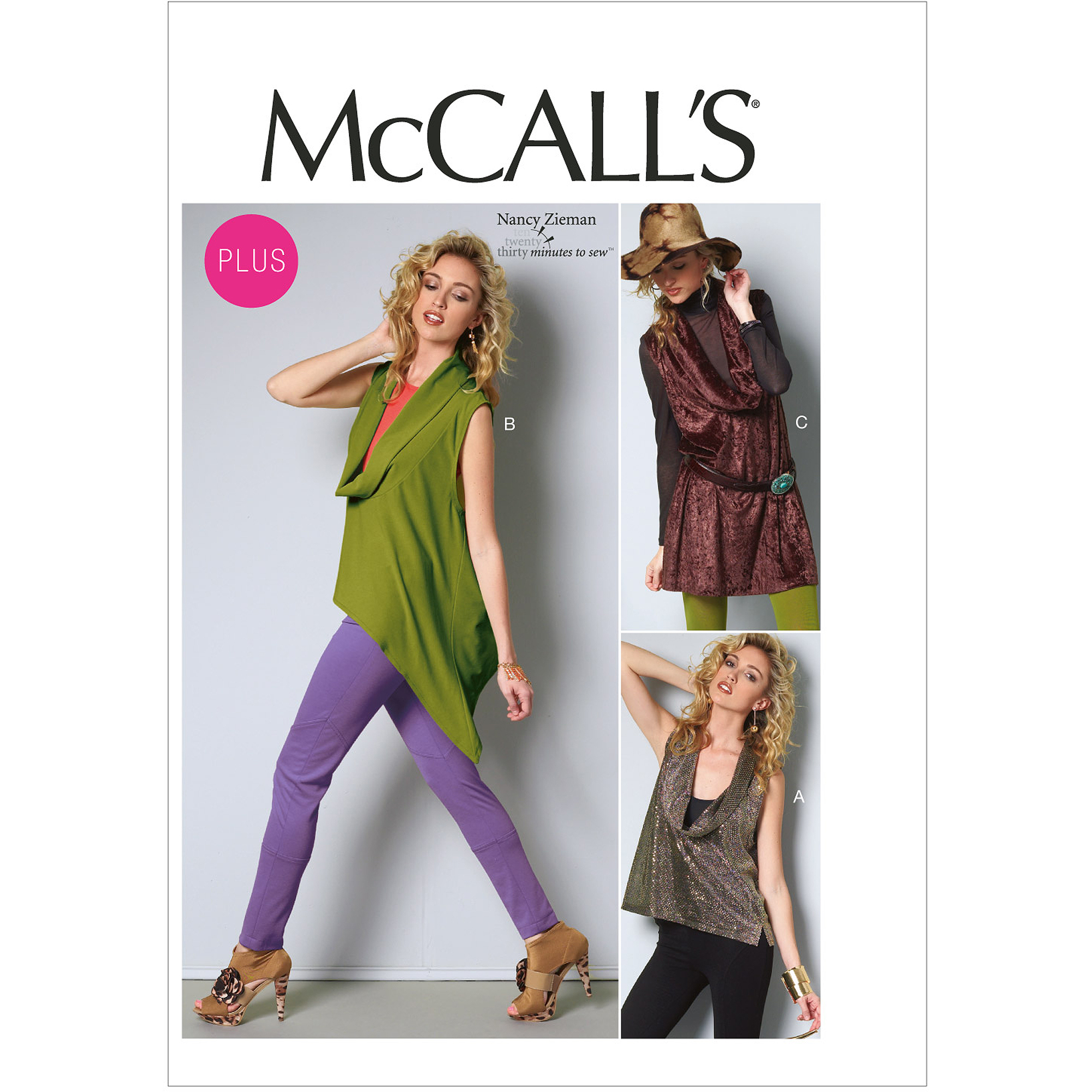 McCall's Pattern Misses' and Women's Tops and Tunic, B5 (8, 10, 12, 14, 16)