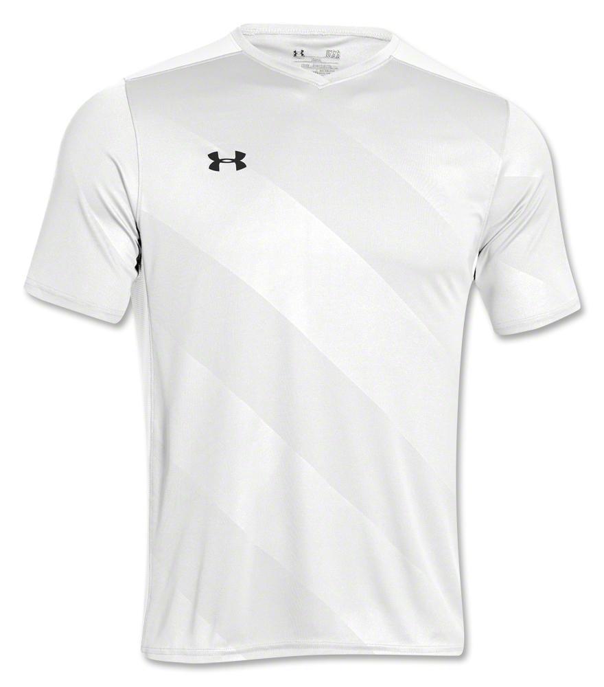 sin embargo Recuento Encarnar  Under Armour Fixture Men's Soccer Jersey - White - Walmart.com - Walmart.com
