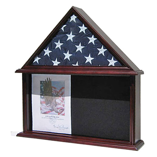 Memorial Shadow Box, Burial/Funeral Flag Display Case for...