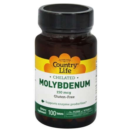 Life 100 Tablets (Country Life - Chelated Molybdenum 150 mcg. - 100 Tablets )