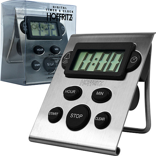 Hoffritz Digital Timer and Clock Timer, Stainless Steel