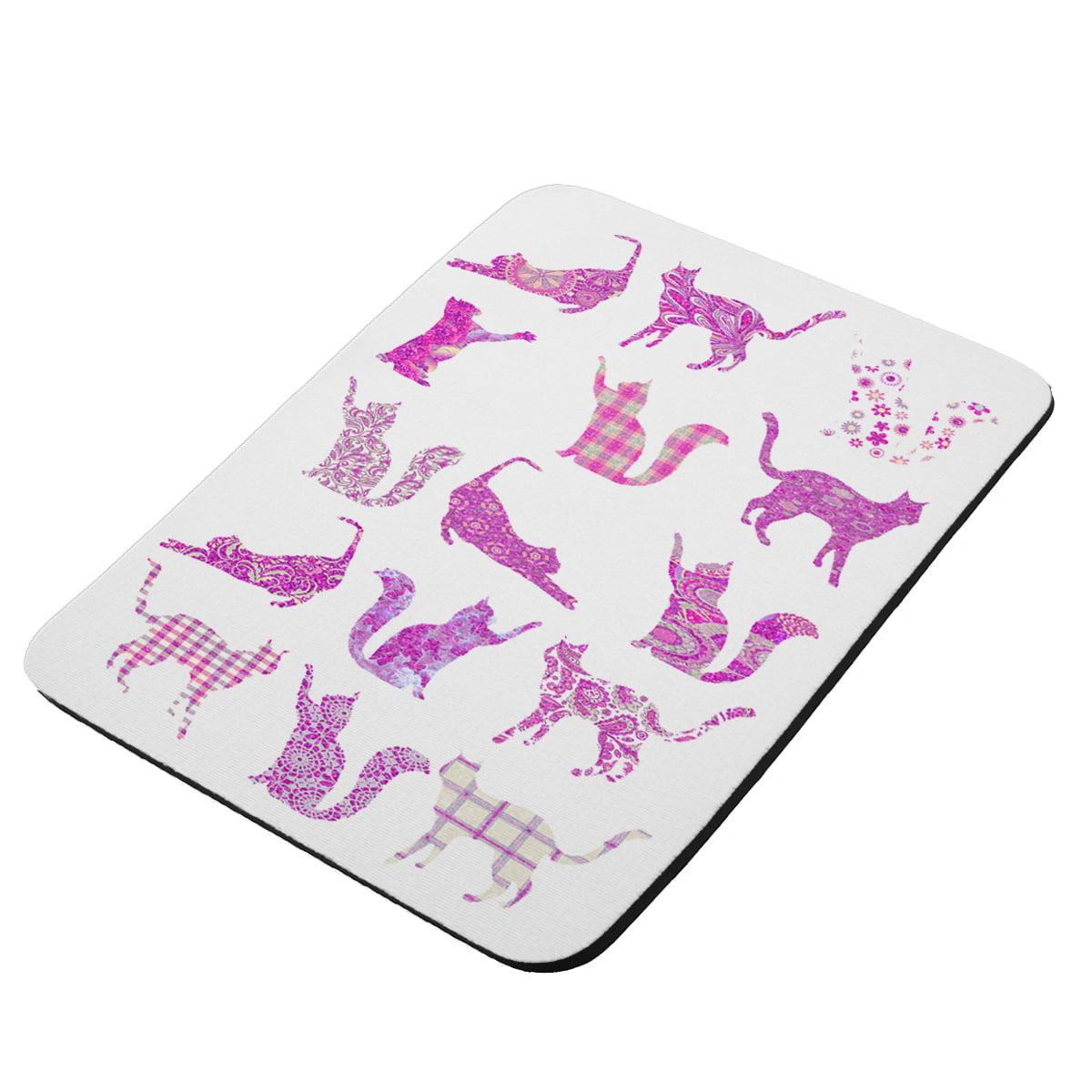 Kitty Cat Pink - KuzmarK Mousepad / Hot Pad / Trivet