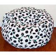 Ahh Products Soccer Anti-Pill Fleece Washable Bean Bag Chair