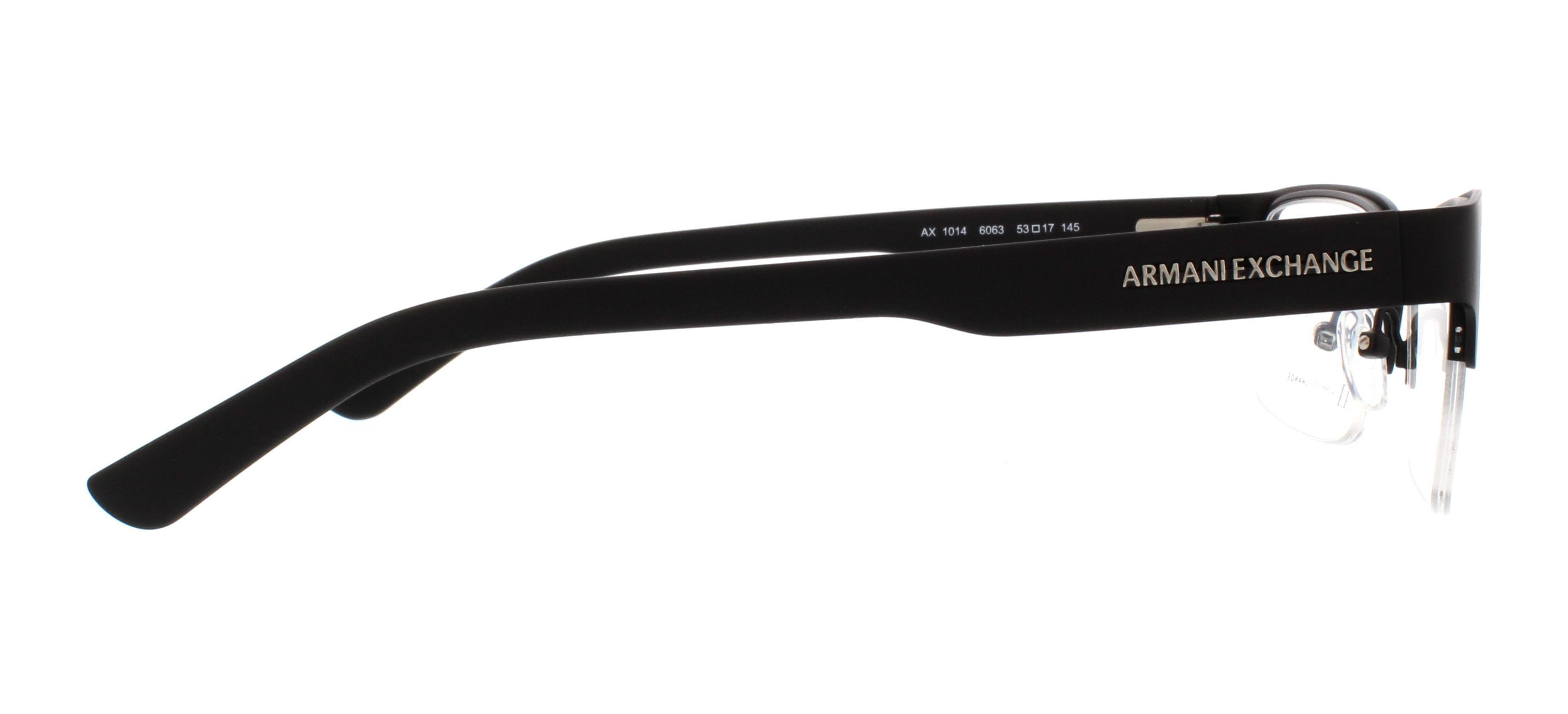0c3318bd1b3 ARMANI EXCHANGE Eyeglasses AX 1014 6063 Satin Black Matte Black 53MM -  Walmart.com