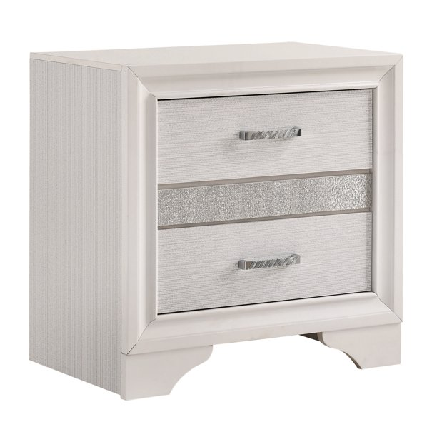 Coaster Miranda 2 Drawer Nightstand In White Walmart Com Walmart Com