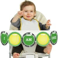 You Got Served - Tennis - I Am One - First Birthday High Chair Birthday Banner