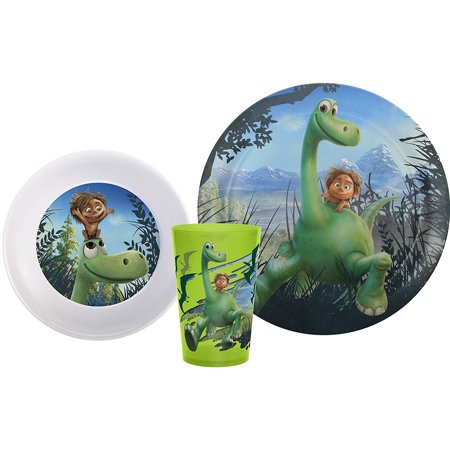 Zak! Designs 3-piece Mealtime Set includes Plate, Bowl and Tumbler featuring Arlo, Spot, Cliff, Ivy, and Forrest from Pixar's The Good Dinosaur,.., By Zak Designs - Paw Patrol Plates And Cups