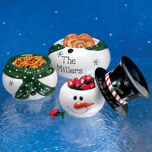 Personalized Snowman Snack Stack