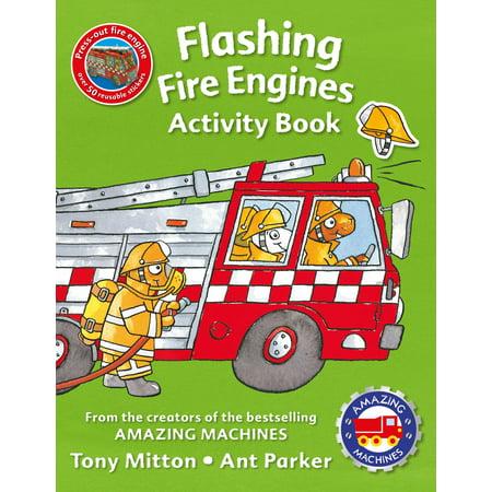 Amazing Machines Flashing Fire Engines Activity Book