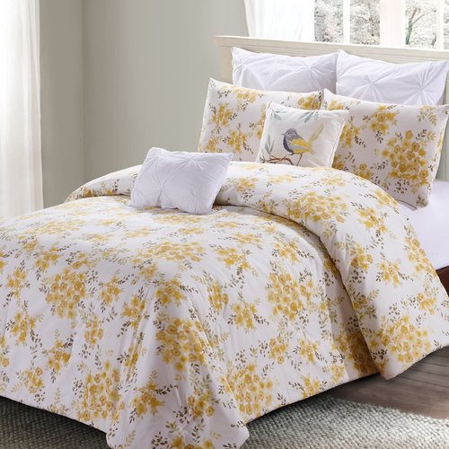 Charlton Home Schaeffer Cotton 7 Piece Comforter Set