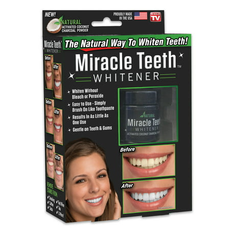 Miracle Teeth Whitener - Natural Charcoal Based Teeth Whitening, As Seen On Tv
