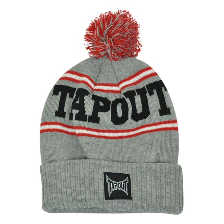 - Tapout Toque MMA UFC Pom Pom Striped Cuffed Knit Beanie Cage Fighting Hat Skull