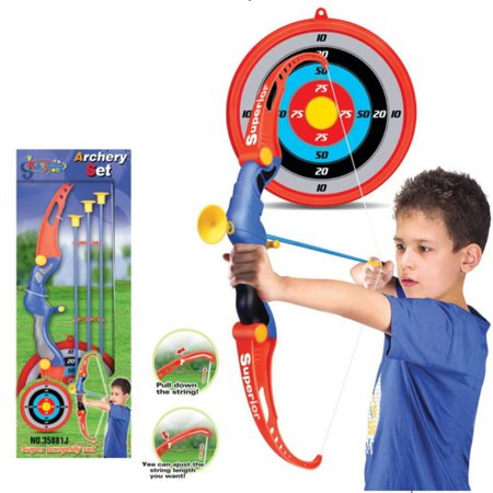 Toy Archery Bow And Arrow Set for Kids With Arrows, Target, and Quiver](Hawkeye Bow And Arrow For Kids)