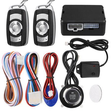 TSV Smart Key Car Alarm Passive Keyless Entry Car Alarm System Engine Start Stop Push Button Remote Starter Shock Sensor Alarm (Best Car Alarm Systems)