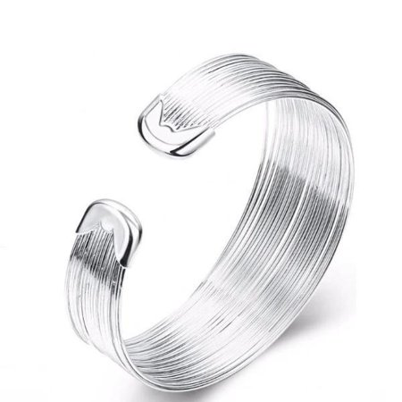 CLEARANCE - Silky Threads Sterling Silver Adjustable Bracelet (Sterling Silver Vintage Bracelets)