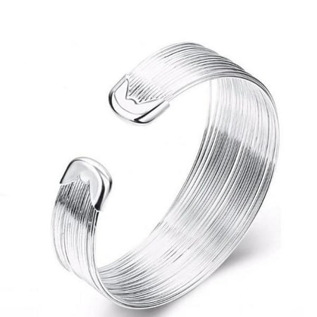 CLEARANCE - Silky Threads Sterling Silver Adjustable Bracelet Silver