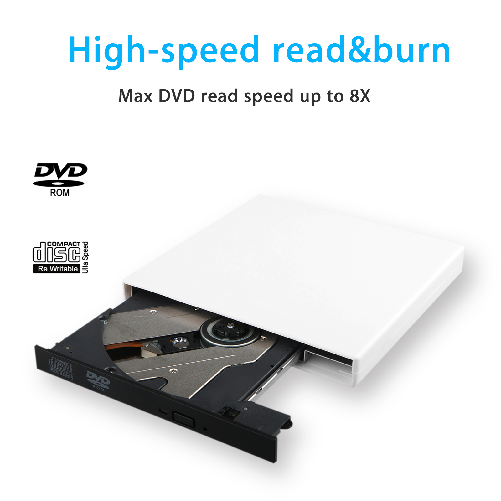 Tsv Usb 20 External Dvd Rom Combo Cd Rw Burner Drive With M Tech Two Cables For Pc Laptop