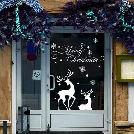 Christmas Mural Removable Wall Sticker Decal Marry Christmas Decor Sti