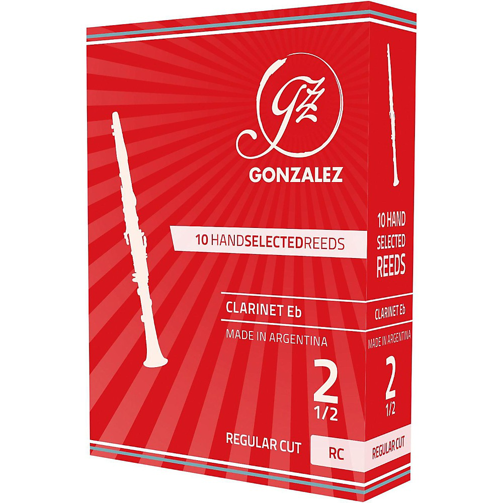 Gonzalez Regular Cut Eb Clarinet Reeds Box of 10 Strength 2.5