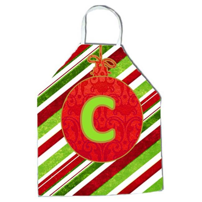 Christmas Oranment Holiday Initial Letter C Apron - image 1 of 1