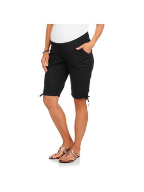 06677769c4aaf Product Image Maternity Underbelly Stretch Poplin Bermuda Shorts -  Available in Plus Sizes