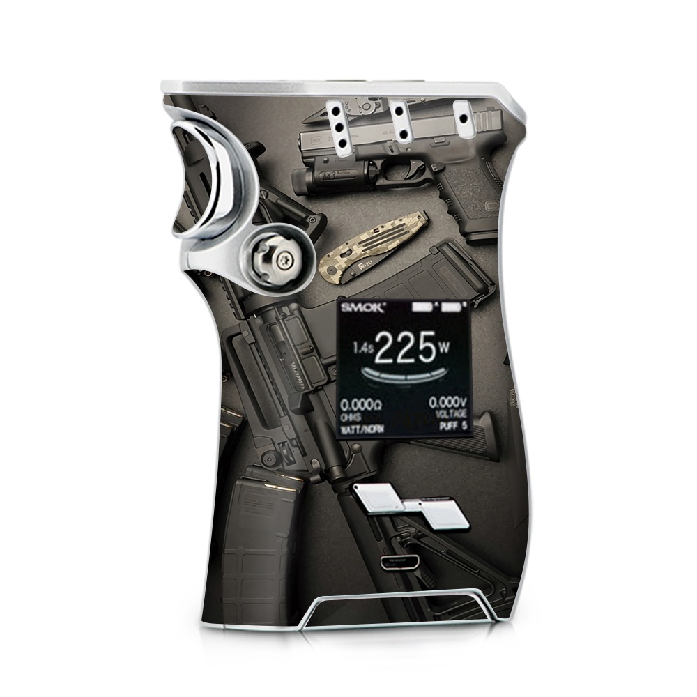 Skin Decal for Smok Mag + TFV12 Prince tank Vape / EDC AR Pistol Gun Knife Military