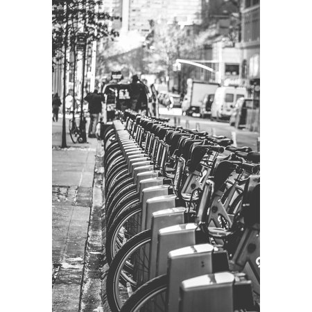 Canvas Print City Black and White Streets Bikes NYC Bicycles Stretched Canvas 10 x 14](Party City 14 Street Nyc)