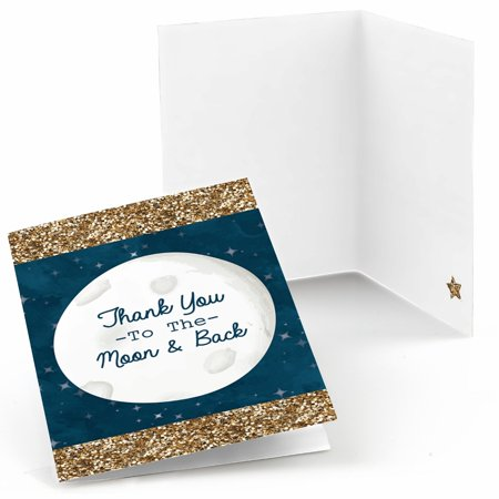 Twinkle Little Star - Baby Shower or Birthday Party Thank You Cards (8 count) (Twinkle Twinkle Little Star Invitations)