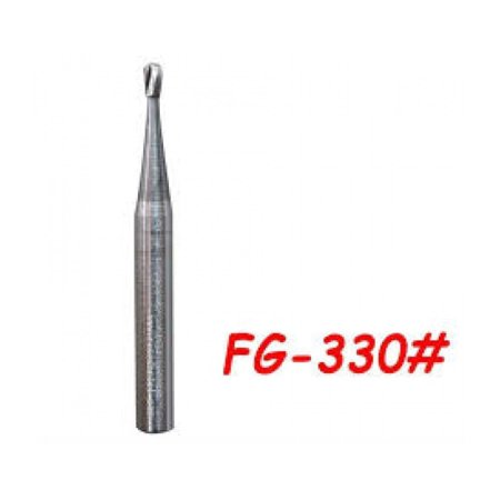 Kerr Midwest Type FG #330 Pear shaped Carbide Bur, clinic pack of 100 burs ( 00400073