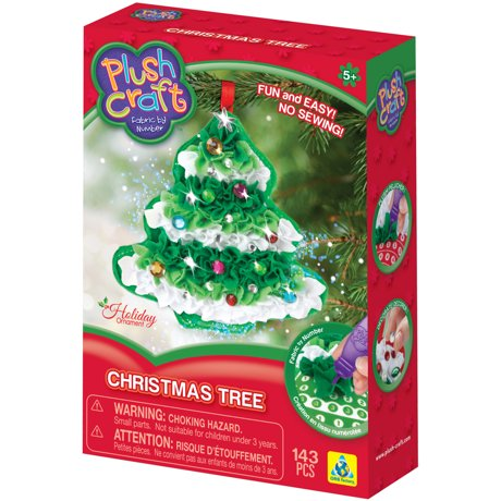 Plush craft fabric by number ornament kit christmas tree 75859 for Number of ornaments for christmas tree