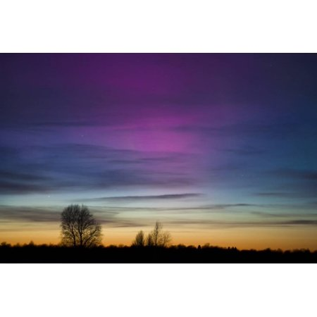 Colorful Aurora Borealis Photographed in Saaremaa Estonia Print Wall Art By - Aurora Borealis Photo