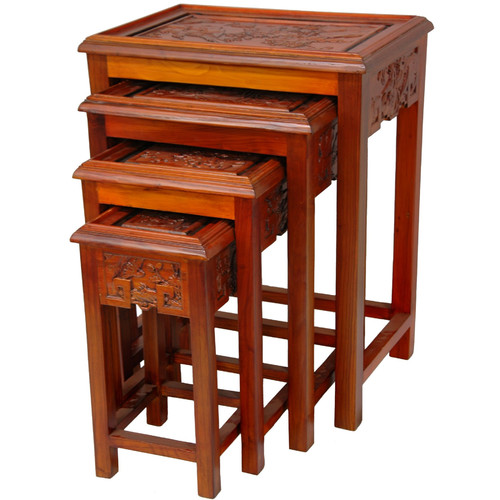 Oriental Furniture 4 Piece Nesting Tables