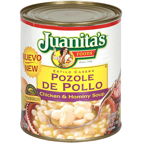 Juanita's Foods Chicken & Hominy Soup With Roasted Green Chiles, 29.5 oz (Pack of 12)