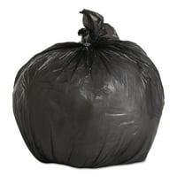 Boardwalk Light-Grade Trash Bags, 17x17, .35 Mil, 4 Gal, Black, 50 Bags/RL, 20 Rolls/CT -BWK1717L