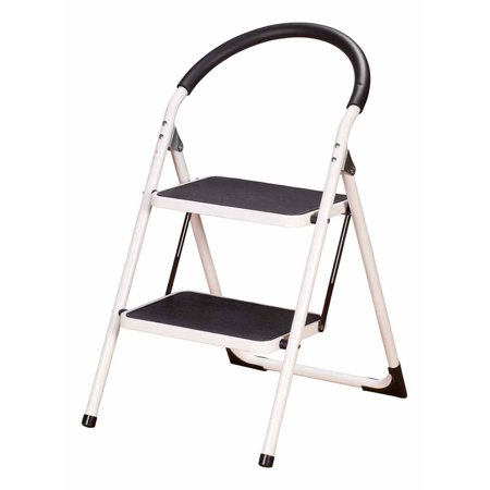 Stupendous Livingsure 2 Step Ladder Stool Combo With Handgrip Anti Slip Folding Step Stool Extra Wide Pedal Step Sturdy Household Ladder Gmtry Best Dining Table And Chair Ideas Images Gmtryco