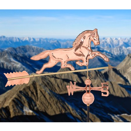 Gymax Full-Size Outdoor Horse Weathervane Polished Copper Roof (Horse Outdoor Mount)