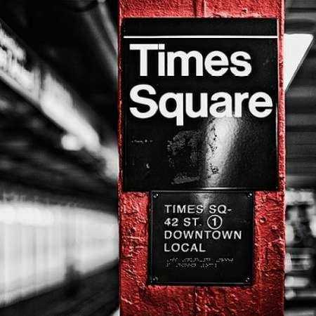 NY Subway Border II Poster Print by Susan Bryant