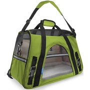 We offer Pet Carrier Soft Sided Large Cat / Dog Comfort Spinach Green Bag Travel Approved [Istilo232
