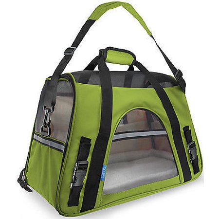 We Offer Pet Carrier Soft Sided Large Cat   Dog Comfort Spinach Green Bag Travel Approved  Istilo232242