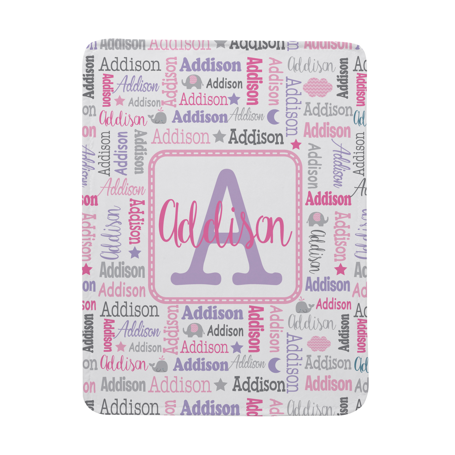 Click here to buy Personalized Collage Name Blanket Blue-Available in Blue or Pink by Personal Creations.