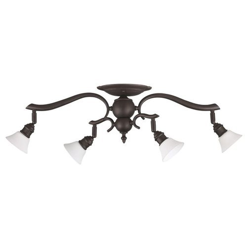 Canarm IT217A04ORB10 4 Light Addison Head Track Lighting Kit, Oil Rubbed Bronze by Canarm