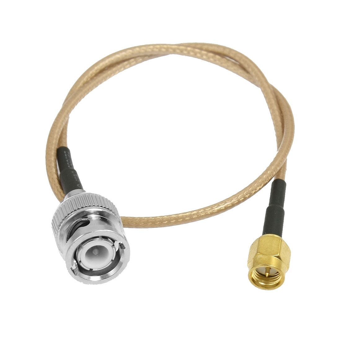 """Unique Bargains RF Radio SMA Male to BNC Male Adapter Extend Coaxial Cable 14.2"""""""