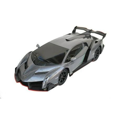 1 18 Scale Lamborghini Veneno Supercar Radio Remote Control Model Car Rc  Grey