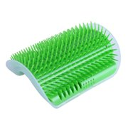Pet Cat Self Groomer with Catnip, Dog Cat Corner Groomer, Wall Corner Massage Comb, Grooming Brush, Perfect Massager Tool