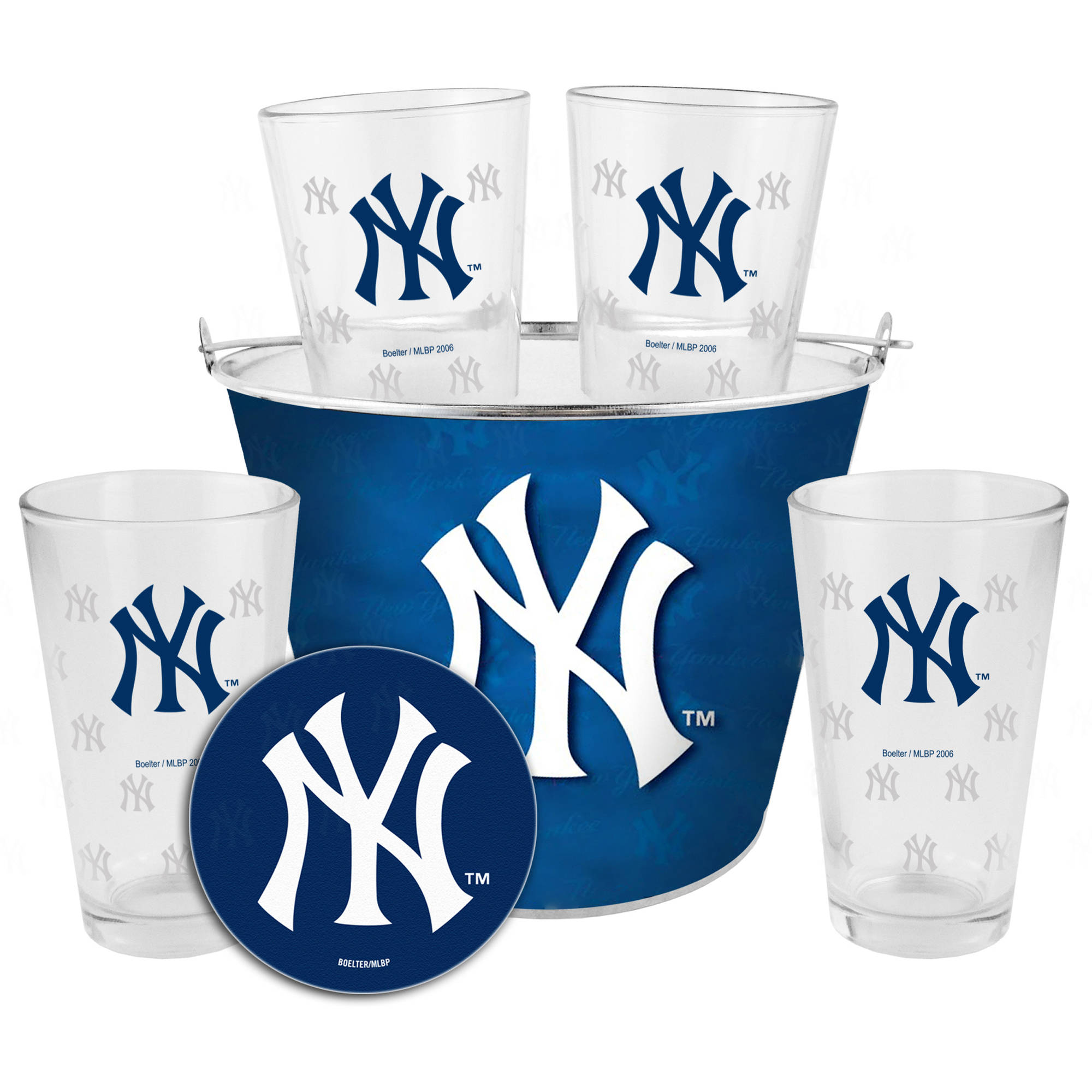 Boelter Brands MLB Gift Bucket Set, New York Yankees