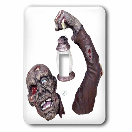 3dRose Halloween Gory Zombie, Double Toggle Switch