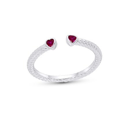 Cartier Ruby Ring (Sterling Silver Ruby Open Front Ring)