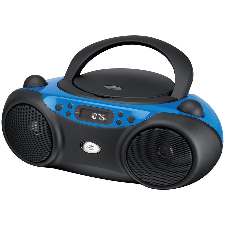 GPX BC232R Sporty CD and Radio Boombox, Red/Black - Walmart.com